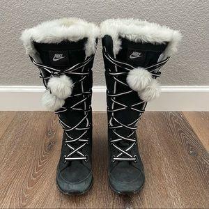 Nike Apres Ski Lace Up Fur Winter Boot
